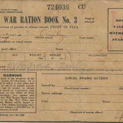 War Ration Book No. 3