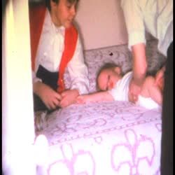 Home movies of Christmas morning (silent)